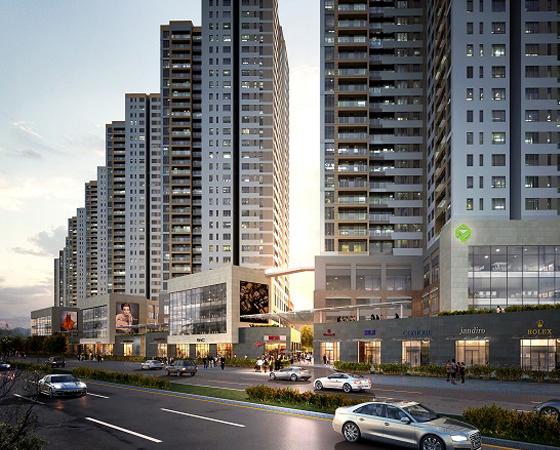 Khu Đông căn hộ tăng theo tầng
